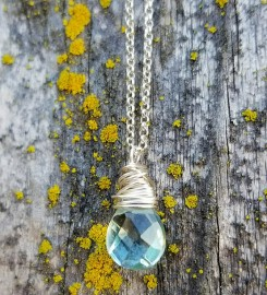 Aquamarine Crystal Necklace