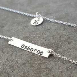 Number/Name Silver Necklace - SET