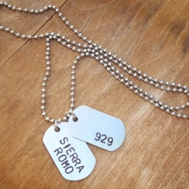 Custom Dog Tag Necklace