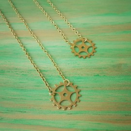Gold Sprocket Necklace