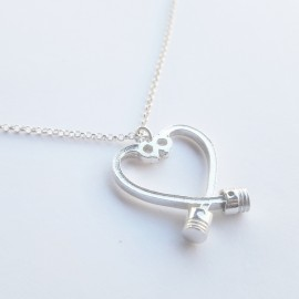 Piston and Rod Heart - Motor Love Necklace